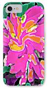 Iphone Cases Colorful Flowers Abstract Roses Gardenias Tiger Lily Florals Carole Spandau Cbs Art 183 IPhone Case by Carole Spandau