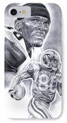 Isaac Bruce IPhone Case by Jonathan Tooley