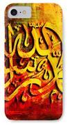 Islamic Calligraphy 009 IPhone Case
