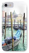Italy Venice Gondolas Parked IPhone Case by Yuriy Shevchuk