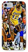 James Worthy IPhone Case by Florian Rodarte
