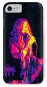 Janis Joplin Psychedelic Fresno  IPhone Case by Joann Vitali