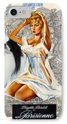 Japanese Chin Art - Una Parisienne Movie Poster IPhone Case by Sandra Sij