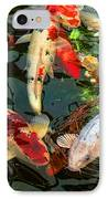 Japanese Koi Fish Pond IPhone Case by Jennie Marie Schell