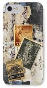 Japanese Postage Three IPhone Case by Carol Leigh