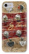 Jay Turser Guitar Head - Red Guitar - Digital Painting IPhone Case by Barbara Griffin