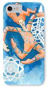 Jester With Snowflakes IPhone Case by Genevieve Esson