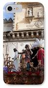 Jesus Christ And Roman Soldiers On Procession Platform IPhone Case by Artur Bogacki