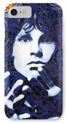 Jim Morrison Chuck Close Style IPhone Case by Joshua Morton