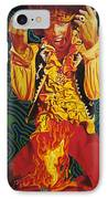 Jimi Hendrix Fire IPhone Case