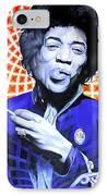 Jimi Hendrix Orange And Blue IPhone Case