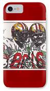 Joe Montana And Jerry Rice IPhone Case by Jeremiah Colley