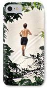 Jog IPhone Case by Randi Shenkman