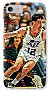 John Stockton IPhone Case by Florian Rodarte