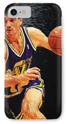 John Stockton IPhone Case by Taylan Apukovska