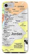 Jordan Exotic Map IPhone Case by Florene Welebny