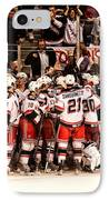 Joy Of Victory Agony Of Defeat IPhone Case by Karol Livote