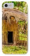 Jungle Hut In A Tropical Rainforest IPhone Case