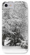 Just After A Snowfall IPhone Case by Mary Machare