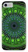 Kaleidoscope Of Glowing Circuit Board IPhone Case by Amy Cicconi