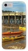 Kayaks By The Pier IPhone Case by Adam Jewell