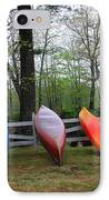 Kayaks Waiting IPhone Case by Michael Mooney