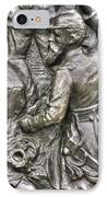 Keep Moving - Charge Of The 106th Pa Volunteer Infantry To The Emmitsburg Road Detail-a Gettysburg IPhone Case by Michael Mazaika