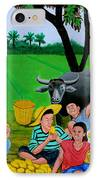 Kids Eating Mangoes IPhone Case by Cyril Maza