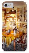 Kitchen - Typical Farm Kitchen  IPhone Case by Mike Savad