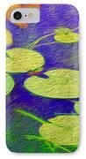 Koi Fish Under The Lilly Pads  IPhone Case by Jon Neidert