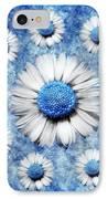La Ronde Des Marguerites - Blue V05 IPhone Case by Variance Collections