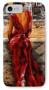 Lady In Red  34 -  I Love Budapest IPhone Case by Emerico Imre Toth