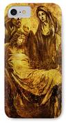 Laid_in_the_tomb Via Dolorosa 14 IPhone Case by Lianne Schneider