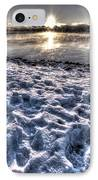Lake Mjosa Sunset IPhone Case by Chris Shirley