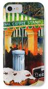Late At Cafe Du Monde IPhone Case