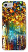 Late Stroll Miami IPhone Case by Leonid Afremov