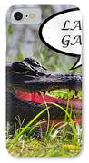Later Gator Greeting Card IPhone Case by Al Powell Photography USA