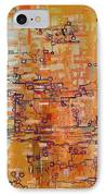 Lattice Animals Abstract Oil Painting By Regina Valluzzi IPhone Case by Regina Valluzzi
