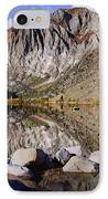 Laural Mountain Convict Lake California IPhone Case by Bob and Nadine Johnston