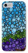 Lavender Fields - France French Landscape Art IPhone Case by Sharon Cummings