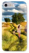 Lazy Summer Afternoon IPhone Case by Tom Schmidt