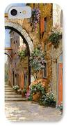 Le Porte Rosse Sulla Strada IPhone Case by Guido Borelli
