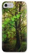 Leaves In My Hair IPhone Case by Laurie Search