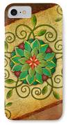 Leaves Rosette 1 IPhone Case