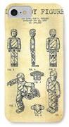 Lego Toy Figure Patent - Vintage IPhone Case