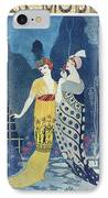 Les Modes IPhone Case by Georges Barbier