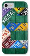 Letter E Alphabet Vintage License Plate Art IPhone Case by Design Turnpike