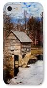 Levi Jackson Park Water Mill IPhone Case by Stephanie Frey