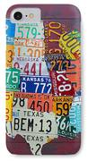 License Plate Map Of The United States IPhone Case
