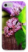 Lilac Still Life IPhone Case by Lainie Wrightson